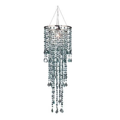 Sunset 1-Light Crystal Pendant Shade Color: Morning Mist