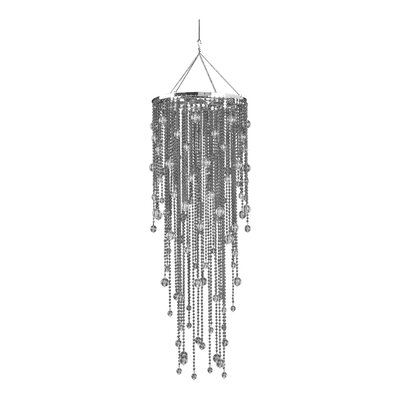Spring Showers 1-Light Crystal Pendant Color: Gray