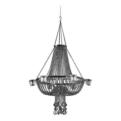 Opera Night 1-Light Crystal Pendant Shade Color: Gray