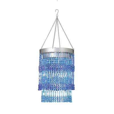 Jena 1-Light Crystal Pendant Shade Color: Blue