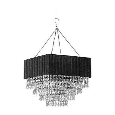 Elegance 1-Light Crystal Pendant Shade Color: Black