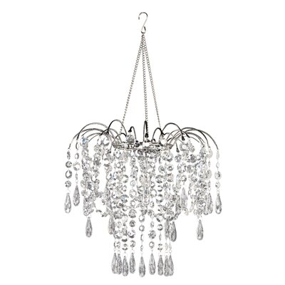 Jewel Case 1-Light Crystal Pendant Color: Silver