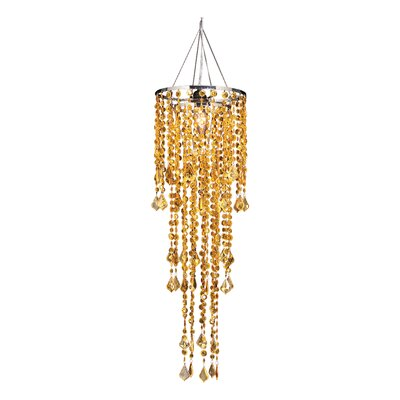 Sunset 1-Light Crystal Pendant Shade Color: Amber