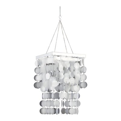 Hip Circles 1-Light Crystal Pendant Finish: Faux Capiz