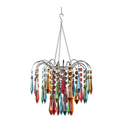 Dazzling 1-Light Crystal Pendant Color: Multi Color