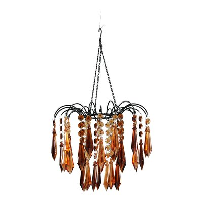 Dazzling 1-Light Crystal Pendant Color: Brown