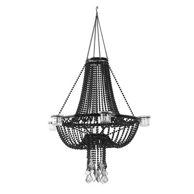 Opera Night 1-Light Crystal Pendant Shade Color: Black