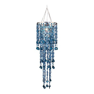 Sunset 1-Light Crystal Pendant Shade Color: Mosaic Blue