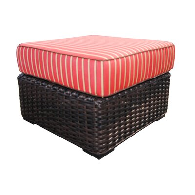Santa Monica Ottoman with Cushion Fabric: Crimson Dupoine