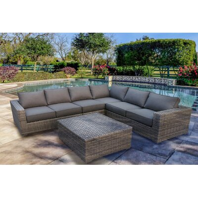 Bali Sectional Seating Group with Cushion