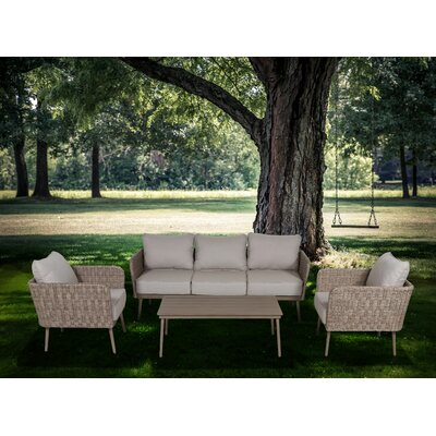 Capri 4 Piece Deep Seating Group with Cushion