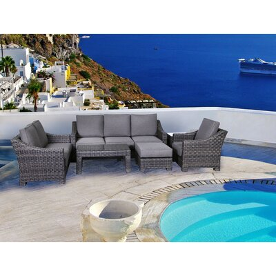 Bora Bora Outdoor Wicker 4 Piece Deep Seating Group with Cushion