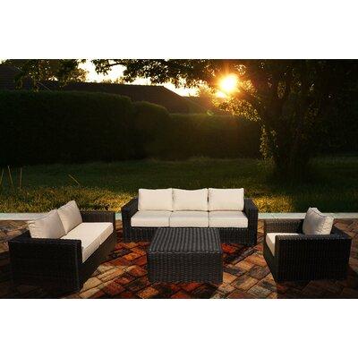 Santa Monica 4 Piece Deep Seating Group with Cushion