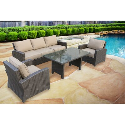 Briony 4 Piece Deep Seating Group with Cushions