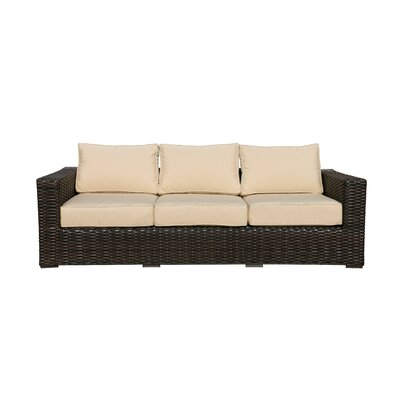 Santa Monica Sofa with Cushions Fabric: Harwood Crimson