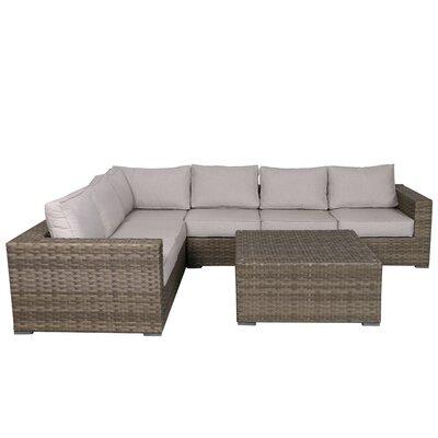 Kaiser 4 Piece Rattan Conversation Set with Cushions