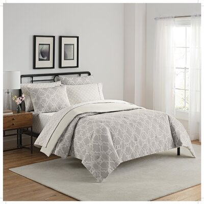 Fremont 7 Piece Reversible Comforter Set Size: King