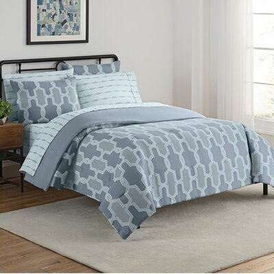 Nantes 7 Piece Reversible Comforter Set Size: Queen