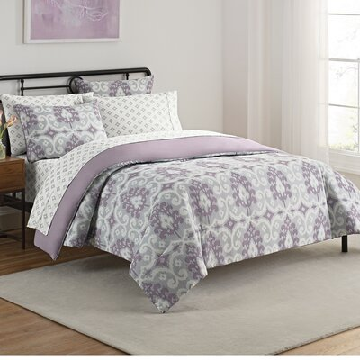 Violette 7 Piece Reversible Comforter Set Size: King