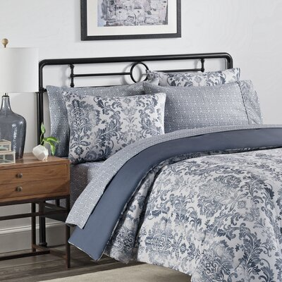 Emerson 7 Piece Comforter Set Size: Queen, Color: Steele