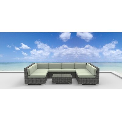 Tahiti 9 Piece Deep Seating Group with Cushion Fabric: Beige