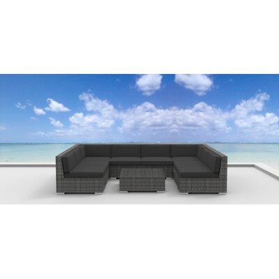 Tahiti 9 Piece Deep Seating Group with Cushion Fabric: Charcoal