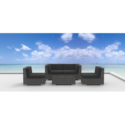 Rio 5 Piece Deep Seating Group with Cushion Fabric: Charcoal