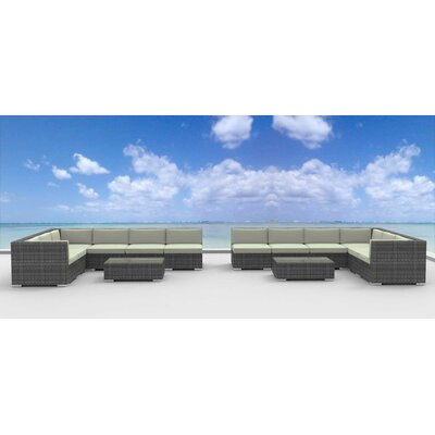 La Jolla 14 Piece Deep Seating Group with Cushion Fabric: Beige