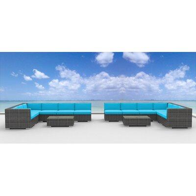 La Jolla 14 Piece Deep Seating Group with Cushion Fabric: Sea Blue