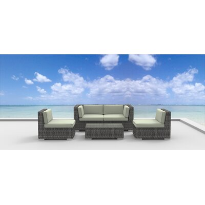 Rio 5 Piece Deep Seating Group with Cushion Fabric: Beige