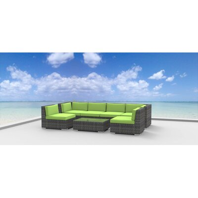 Mason 7 Piece Deep Seating Group with Cushions Fabric: Lime Green