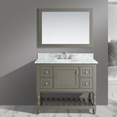 Mccombs 42 Single Bathroom Vanity Set with Mirror Base Finish: Distressed Gray
