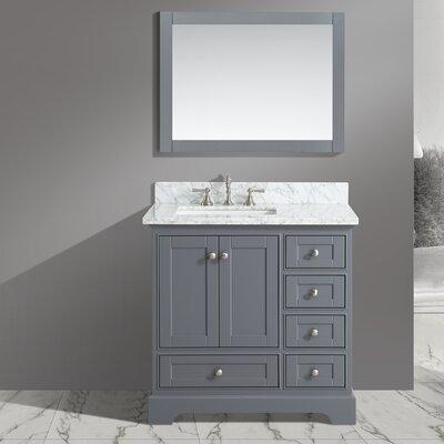 Castellanos 36 Single Bathroom Vanity Set with Mirror Base Finish: Charcoal