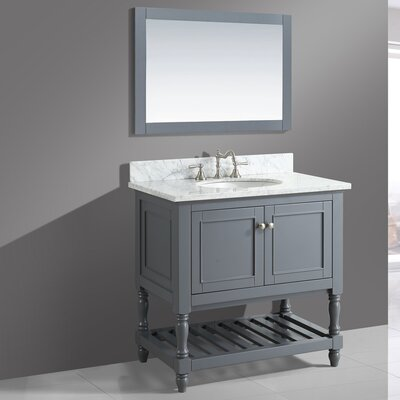 Mccombs 36 Single Bathroom Vanity Set with Mirror Base Finish: Charcoal