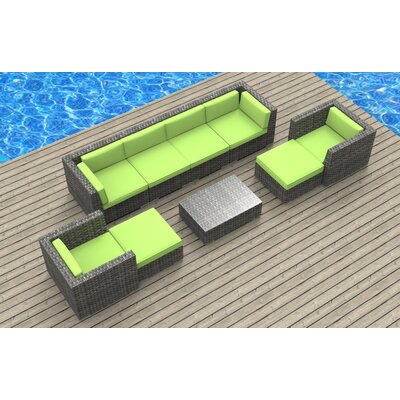 Karla 11 Piece Deep Seating Group with Cushion Fabric: Lime Green