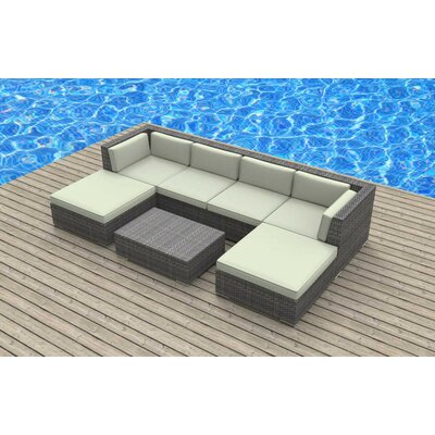 Madeleine 7 Piece Deep Seating Group with Cushion Fabric: Beige