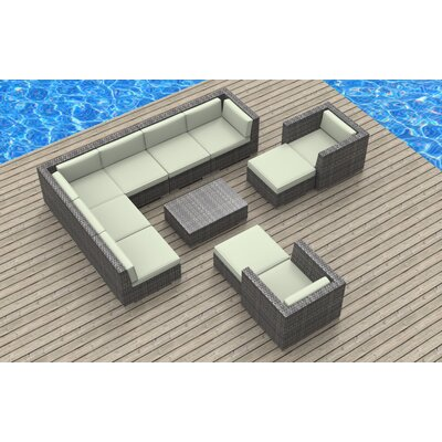 Karla 11 Piece Gray Deep Seating Group with Cushion Fabric: Beige