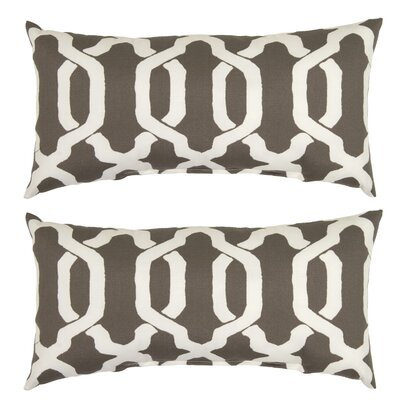 Shirley Outdoor Lumbar Pillow Color: Taupe