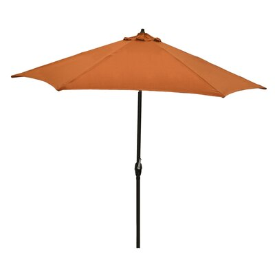 Plantation Patterns 9' Market Umbrella - Fabric: Nutmeg
