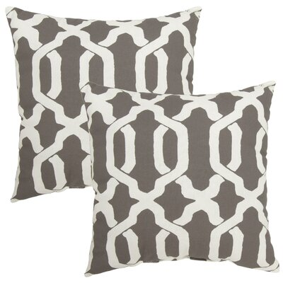 Shirley Outdoor Throw Pillow Color: Taupe