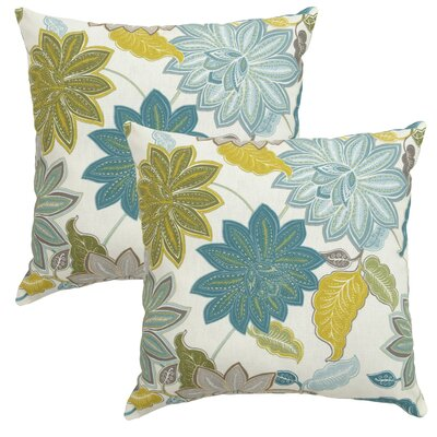 Briar Ridge Cool Flower Outdoor Throw Pillow