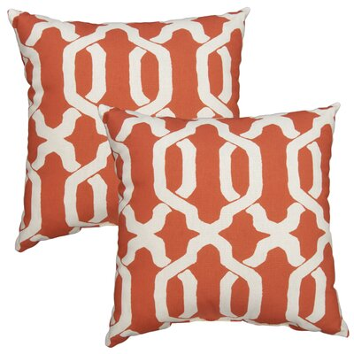 Shirley Outdoor Throw Pillow Color: Coral