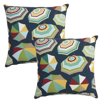 Paz Umbrellas Print Outdoor Throw Pillow