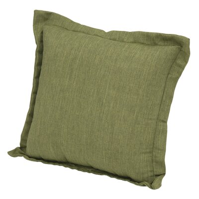 Brewer Deep Seating Outdoor Throw Pillow Color: Green
