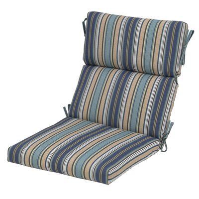Pamila Stripe Pacific Outdoor Dining Chair Cushion