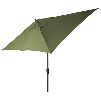 6 x 11 Brimfield Rectangular Market Umbrella Fabric: Moss Green