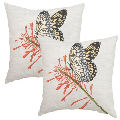 Burnwood Butterfly Outdoor Throw Pillow