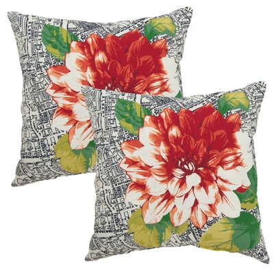 Beltz Dahlia Outdoor Throw Pillow