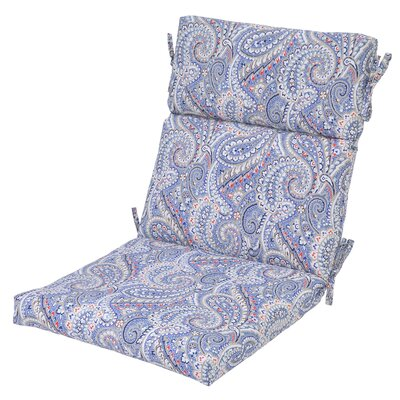 Nessa Paisley Poolside Outdoor Dining Chair Cushion