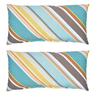 Allegra Stripe Outdoor Lumbar Pillow